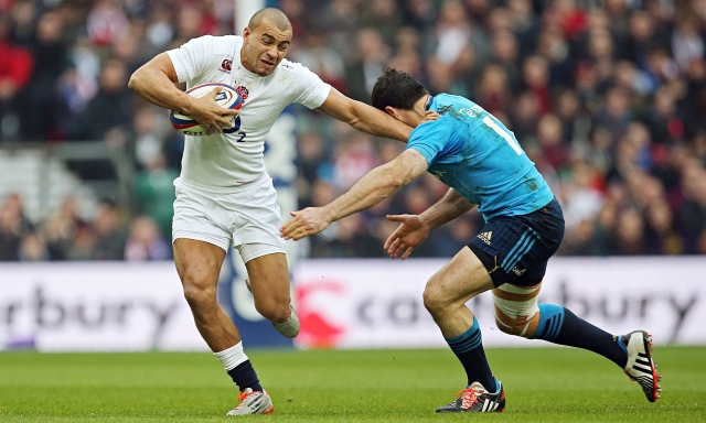 (Rugby b) Jonathan Joseph, playing for England against Italy.jpg